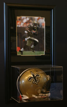 Collectible Football Helmet Plastic Display Case
