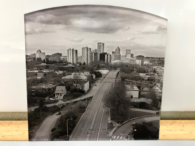CityScape Printed on Clear Acrylic