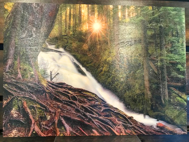 Printed Picture on Wood Substrate, no clear coat